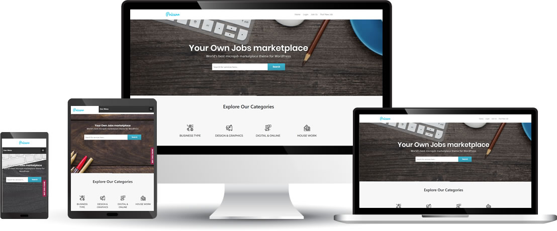 WordPress Pricerr Microjob Theme