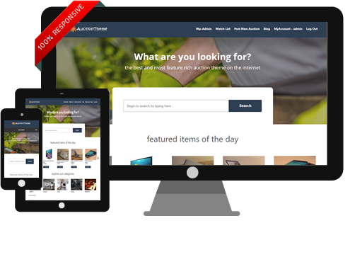 Responsive WordPress Auction Theme