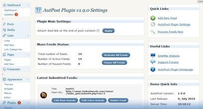 WordPress AutoPost Plugin