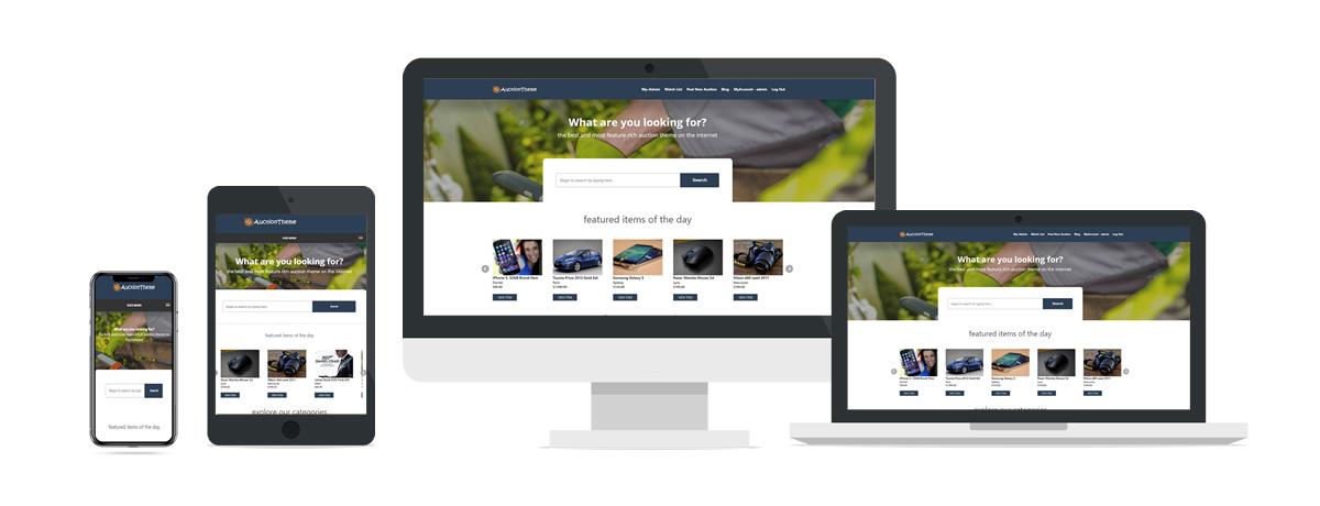 WordPress Responsive Auction Theme