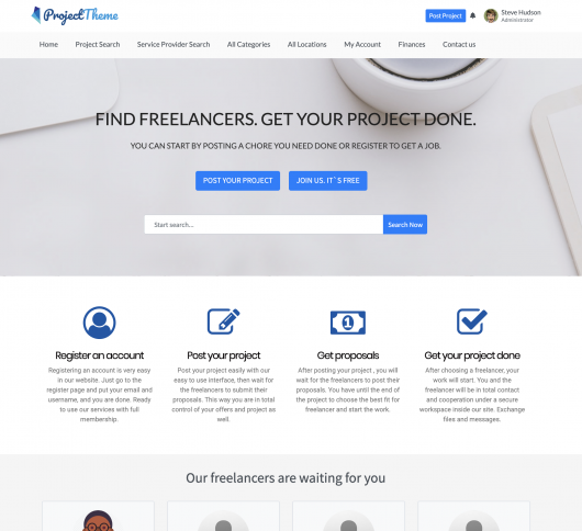 project freelancer wordpress theme