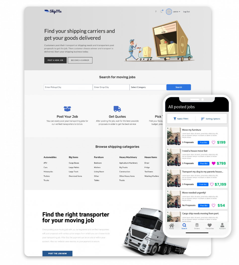 WordPress Shipme Transportation Theme